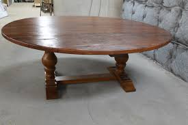 modern 84 round dining table with inch trestle ecustomfinishes decor 3