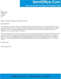 Request For Experience Letter From Company