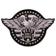 hot leathers vet s don t forget eagle 12 x8 patch