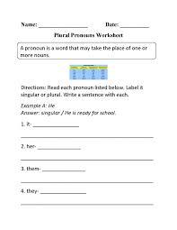 Plural Pronouns Worksheet Pronoun Antecedentnt Quiz Sample With ...