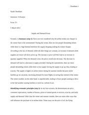 economics essay supply and demand economics is everywhere you 6 pages supply demand essay editted by jenna