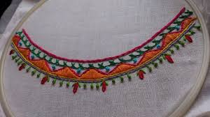 Job Description Embroidery Designer Hand Embroidery Boat Neck Embroidery Design Latest