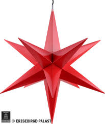 Hasslau Christmas Star For Inside Use Red Incl Lighting 65 Cm 256 Inch