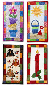 Best 25+ Quilted wall hangings ideas on Pinterest   Mini quilts ... & Seasonal Skinnies designed by Margie Ullery of  RibbonCandyQuilts.blogspot.com for Quiltmaker. Patterns · Quilting  IdeasDesign Wall ... Adamdwight.com