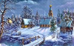 Winter Christmas Scenes Wallpapers ...
