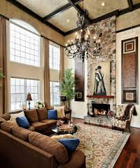 Tuscan Living Room High Ceiling Tuscan Living Room Ideas White Gold Table On Rug