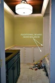 subway tile board wainscoting for bathroom walls paneling recessed panel with accent border kitchen
