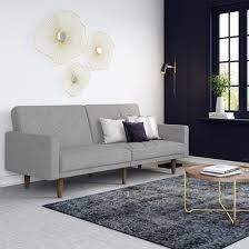 paxson linen sofa bed in light grey