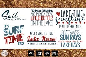 I'm also excited to offer over 275 free svg files, with a new free svg for cricut & silhouette added each week! Lake House Bundle 99108 Svgs Design Bundles Free Svg Files Monogram Svg Free Files Summer Diy Projects