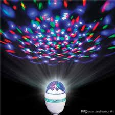 Rotating Led Disco Light Bulb Wholesale 3w Rotating Led Strobe Bulb Rgb Multi Changing Color Crystal Stage Light E27 B22 Party Holiday Dance Disco Bulb Disco Led Lights Led Disco