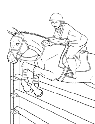 Small Picture Coloring Pages Of Horses Jumping Free Printable Horse Coloring