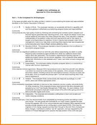 Employee Comments On Performance Evaluation Annual Performance Review Employee Self Evaluation Examples