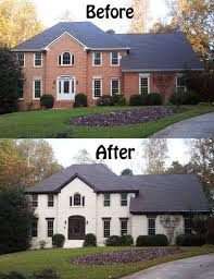 Painted brick exterior Grey Amazing What Painted Brick Can Do To Transform And Add Character To Home Pinterest Amazing What Painted Brick Can Do To Transform And Add Character To