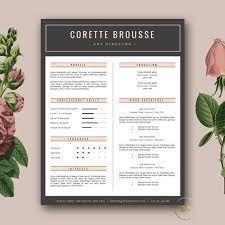 creative resume template feminine resume free cover letter for word and pages 3 page resume design creative resume templates download free