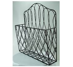 rustic style metal wire scroll wall pocket organizer flower file holder