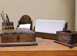 rustic office. deck out your desk with unique office supplies from etsy rustic