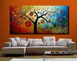 tree 001 on large canvas wall art trees with hand painted modern abstract money tree canvas wall art oil painting