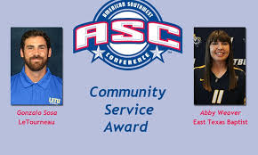 Sosa, Weaver Selected for ASC Community Service Award - American Southwest  Conference