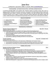 Database Developer Resume Template Impressive Database Developer Resume Template Best Resume Examples