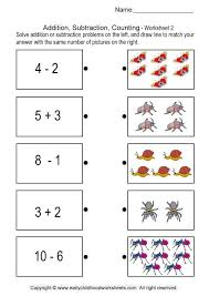 Addition, Subtraction, Counting - Brain Teaser Worksheets # 2