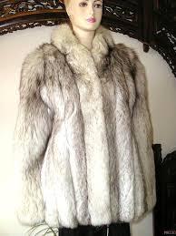 regal scandia furs of wienna custom made crystal blue shadow fox fur jacket m l danielle s vintage