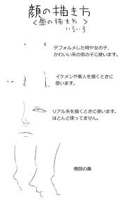 鼻の描き方いろいろ Manga2019 表情 描き方絵の描き方鼻 描き方