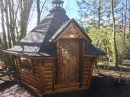 garden hut. From A Back Garden To Fishing Lake The Barbecue Cabin Range Has Something Offer Everyone. Hut D