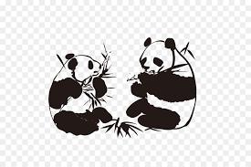 giant panda wall decal sticker bamboo panda on giant panda wall art with giant panda wall decal sticker bamboo panda png download 600 600