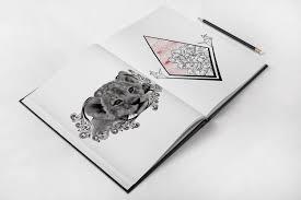 Geometric Japanese Peony Lion Tiger Filigree Tattoo Idea Sketch