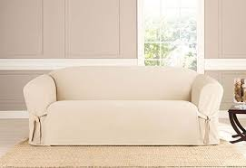 sure fit slipcovers heavyweight cotton duck one piece slipcovers sofa