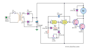 dc motor controller circuit diagram ireleast info simple pwm motor control circuit using ic 4011 eleccircuit wiring circuit