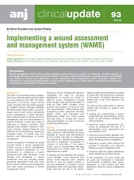 Pdf Implementing A Wound Assessment And Management System