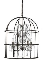 farmhouse birdcage chandelier
