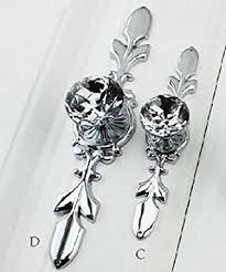 cabinet knobs silver. Cabinet Drawer Knob Glass Crystal Knobs Pulls Back Plate Silver Clear