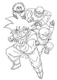 Dragon Ball Z Manga Coloring Pages Printable Coloring Page For Kids