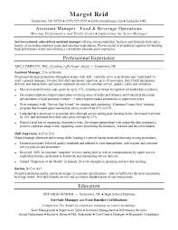 Assistant Manager Resume Sample Job Description Template Maintenance
