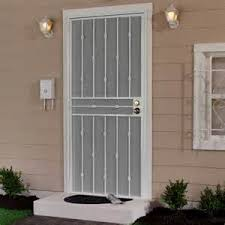 metal security door. Colors Of Knobsets Include: Brass, Nickel, Or Oil Rubbed Bronze. Door Included Are: Black, White Brown. Comes Standard With A Perforated Metal Security