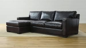axis leather piece sectional sofa crate barrel and