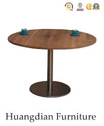 china round metal base wooden dining table for restaurant hd064 china restaurant furniture restaurant table