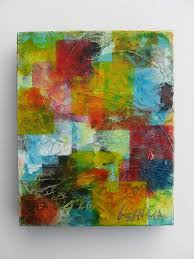 original contemporary abstract textured modern mixed a painting collage with tissue paper