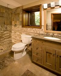 Pine Bathroom Cabinet Knotty Pine Bathroom Cabinets With Rustic Wood Trim Bathroom