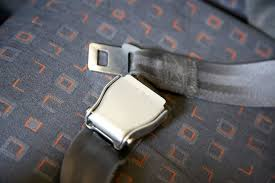 an airplane lap belt