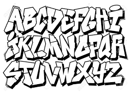 Graffiti Font Free Classic Street Art Graffiti Font Type Vector Alphabet