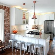 copper kitchen lighting. Copper Kitchen Lights Small U Shape Decoration Using Light  Gray Granite Counter Tops . Lighting