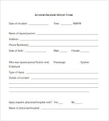 Customer Incident Report Form Template 35481212750561 Free