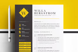 Minimal Yellow Resume Template Cv Cover Letter Templates