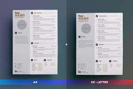 Clean Resume Cv Vol 1 Indesign Word Template By The Resume