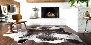 faux cowhide rug large grey fake rugs for