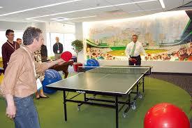 google employees playing ping pong