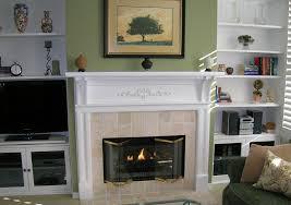 custom fireplace surround built in shelves